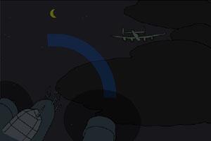 Schéma d'impulsions radar en direction d'un bombardier